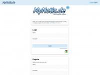 Notizen online speichern - Startseite - MyNotiz.de