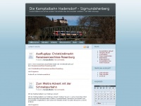 125 Jahre Kamptalbahn 2014 | Fanseite über die Lokalbahn Hadersdorf – Sigmundsherberg