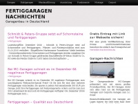 Fertiggaragen Nachrichten