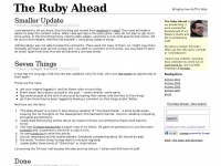 The Ruby Ahead: Bringing new stuff to Ruby