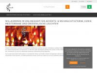 Sol-luna.de - Weihnachtssterne, Adventsstern,mediterrane Dachziegellampe,Dachziegelleuchte,Hennalampe,Laterne