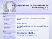 B&uuml;rgerplattform f&uuml;r demokratische Erneuerung e.V.