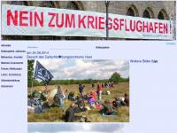 """Initiative """"NEIN ZUM KRIEGSFLUGHAFEN!"""" ( Leipzig / Halle ) : aktuelles"""