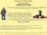 Obstmucker bei Werder (Havel) im Havelland und Selbstpflücken auf dem  Obsthof
