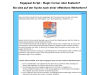 Pagepeel Skript, Eselsohr, Magic Corner, Adpeel, Reseller