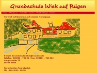 Startseite der Grundschule Wiek auf R&uuml;gen