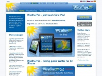 WeatherPro: Die Wetter-App für iPhone, iPad, Android, BlackBerry, Windows Phone, Symbian und webOS - powered by MeteoGroup