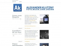 Alexander Klutzny's Blog | Just another WordPress.com weblog