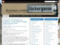 Bäckergasse in Augsburg | Shopping - Gastronomie - Dienstleistung