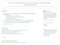 Die wichtigsten (must have) Freeware-Programme