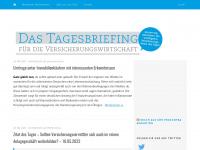 Das Tagesbriefing für Versicherung & Finanzen - Immer top informiert: die wichtigsten Versicherungs-News des Tages.