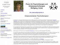 Psychotherapie - Körperpsychotherapie - Praxis Wolfgang Hutter in Wien