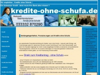 Kredite ohne Schufa&nbsp;&nbsp;|ohne Vorkosten |  online beantragen |