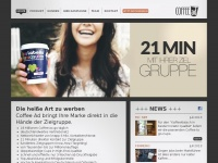 Coffee Ad – Coffee-to-go-Cup Advertising – Werbung auf Kaffeebechern