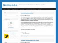 Bibliothekarisch.de | Bibliothekarisch - die berufliche Tätigkeit eines/er Bibliothekars/in betreffend.