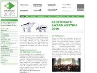 ZERTIFIKATEAWARD AUSTRIA 2015