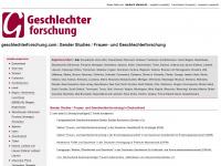 geschlechterforschung.com: Gender Studies / Frauen- und Geschlechterforschung online