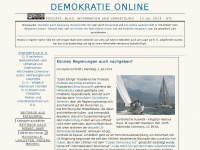 DEMOKRATIE ONLINE › Podcast, Blog, Information und Vernetzung