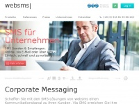 Business SMS Lösungen für Sie von websms