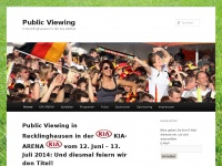 Public Viewing | in Recklinghausen in der KIA-ARENA