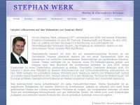 Portrait &amp; Vita - Stephan Werk - Marine &amp; Atmospheric Sciences