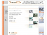prodakom ··· IT · Webdesign · Telekommunikation · Internet · Netzwerk · Computer · Software