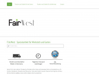 fairwest-shop.de Webseite Vorschau