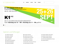k1-galerien-koeln.de Webseite Vorschau