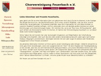 chorvereinigung-feuerbach.de Webseite Vorschau