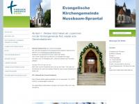 kirche-nussbaum-sprantal.de Webseite Vorschau