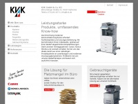 kvk.de Webseite Vorschau