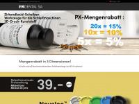 pxdental.com Webseite Vorschau