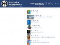 narcotics-anonymous.de Webseite Vorschau