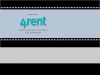 4rent-gmbh.de Webseite Vorschau