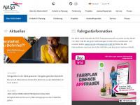 nasa.de Webseite Vorschau
