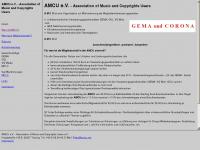 amcu.net Webseite Vorschau
