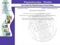 physiotherapie-koestler.de Webseite Vorschau