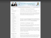 1a-onlinekredit.de Webseite Vorschau