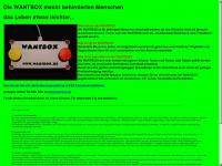 wantbox.de Webseite Vorschau