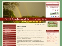 gross-fredenwalde.de Webseite Vorschau