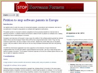 stopsoftwarepatents.eu
