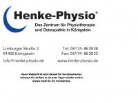 henke-physio.de Webseite Vorschau
