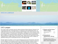 uvc-lampen.de Webseite Vorschau