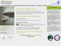 physiotherapie-knappe.de Webseite Vorschau