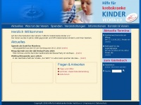 kinderkrebshilfe-vechta.de Webseite Vorschau