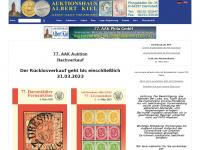 kiel-briefmarken.de Webseite Vorschau