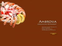 ambrosia-restaurant.de Webseite Vorschau