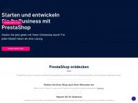 prestashop.com Webseite Vorschau
