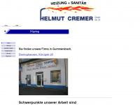 cremer-heizung-sanitaer.eu Webseite Vorschau