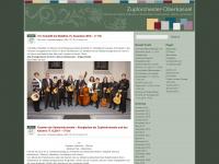 zupforchester-oberkassel.de Webseite Vorschau
